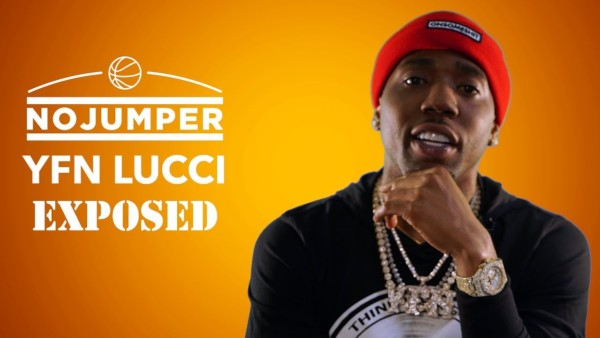YFN Lucci exposed no jumper