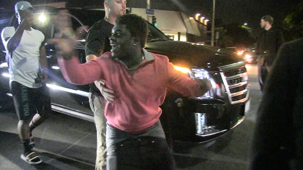 Kodak Black Turns Up Outside A Los Angeles Nighclub