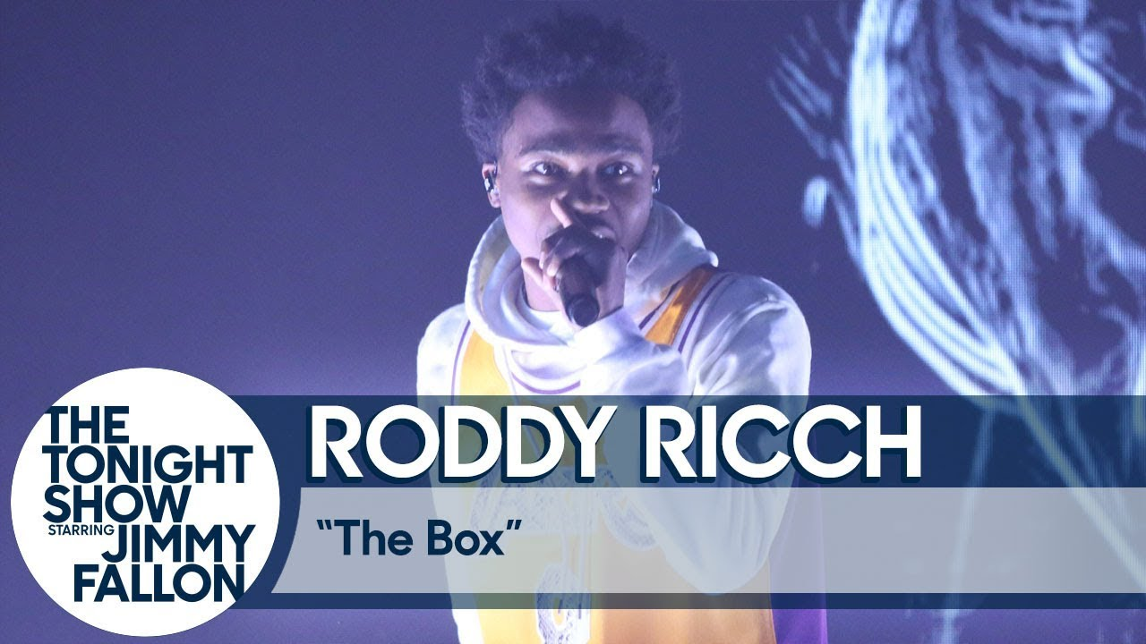 """Roddy Ricch Performs """"The Box"""" on The Tonight Show"""