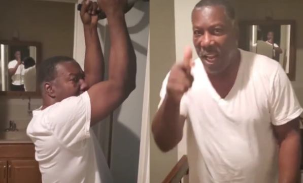 Dad Tried To School His Son On Some Pull Ups But It Didn't Go As Planned