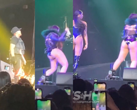 bow wow falls on stage