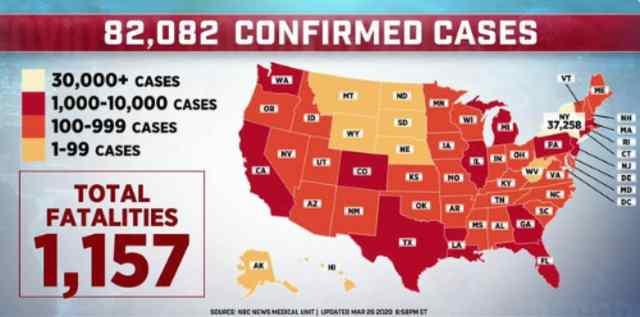 U.S. Leads Coronavirus Cases