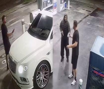 Dude Gets His Bentley SUV Taken At Gunpoint At A Gas Station
