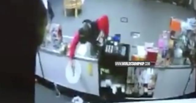 Dude Robs A Store Then Leaves, Trips & Shoots Himself By Accident!