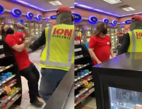 Guy Catches A Knockout At Gas Station For Cussing Out An Old Lady