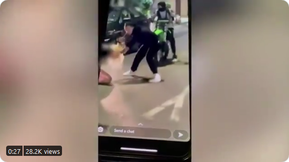 Mother Gets Beaten in Front of Her 8-Year-Old for Honking at Dirt-Bike Riders