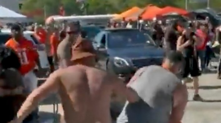 cleveland browns fan fight